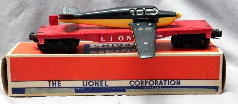 LIONEL TRAINS AIRPLANE FLAT CAR No. 6800