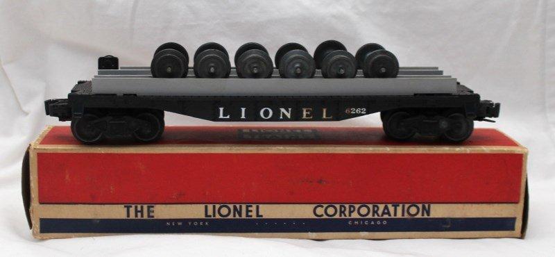 LIONEL TRAINS WHEEL FLAT CAR No. 6262