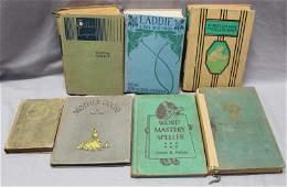 7 ANTIQUE  VINTAGE CHILDRENS BOOKS
