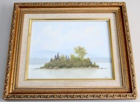 Original Oil Moosehead Lake Maine David Mckeith