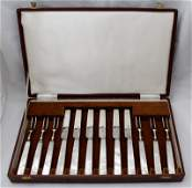 ENGLISH STERLING CASED FRUIT SERVICE c 1894