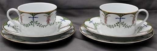 2 CERALINE LIMOGES FESTIVITE BREAKFAST / HIGH TEA SETS