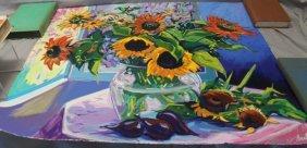 Maria Bertran Sunflower Serigraph Ap