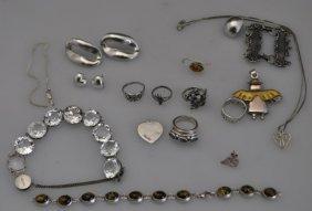 Lot Of Estate Vintage Sterling Estate Jewelry