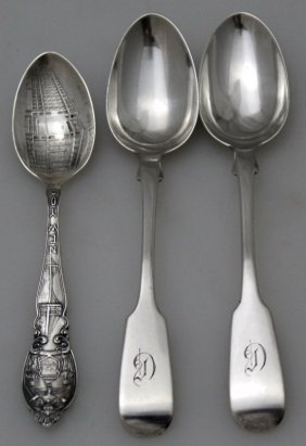 3 Antique Sterling Silver Spoons
