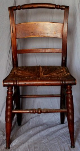 Antique American New England Side Chair