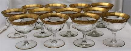 12 GOLD ENCRUSTED OPTIC SHERBETS