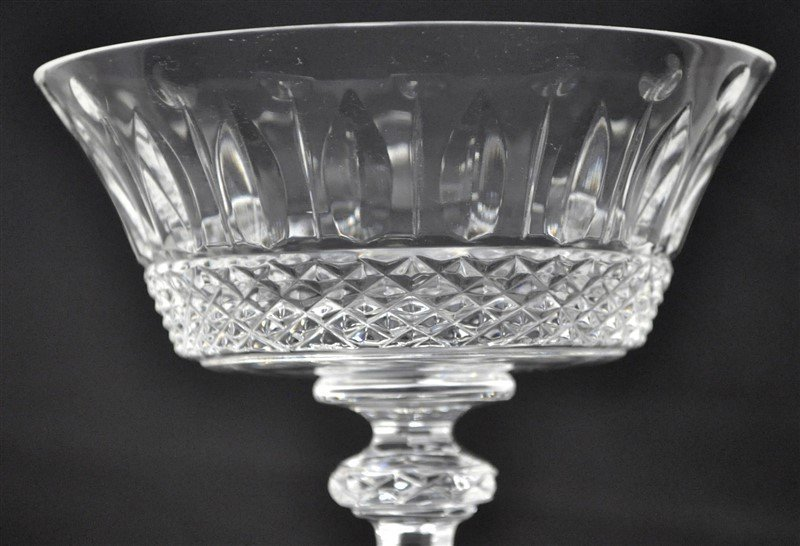 6 FRENCH SAINT LOUIS CRYSTAL TOMMY CHAMPAGNE SAUCERS - 2