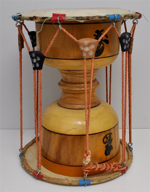 VINTAGE KOREAN JANGGU HOURGLASS DRUM