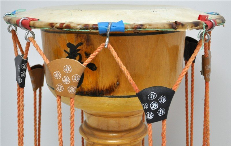 VINTAGE KOREAN JANGGU HOURGLASS DRUM - 4