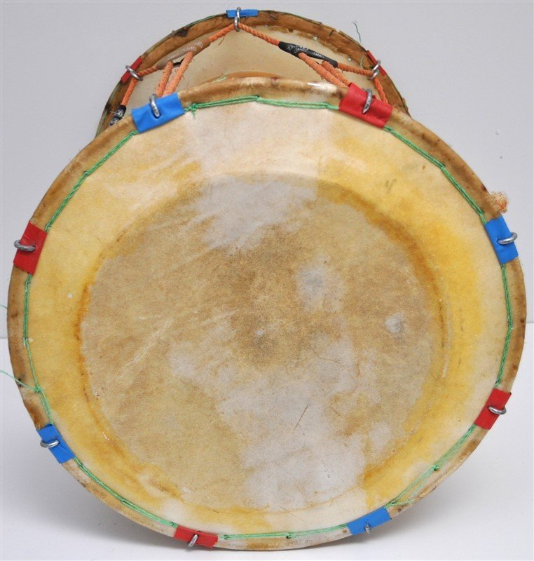 VINTAGE KOREAN JANGGU HOURGLASS DRUM - 5
