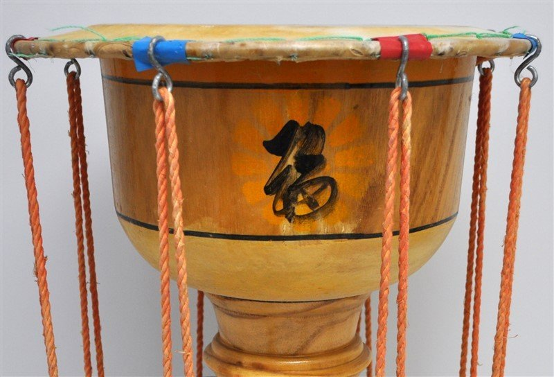 VINTAGE KOREAN JANGGU HOURGLASS DRUM - 6