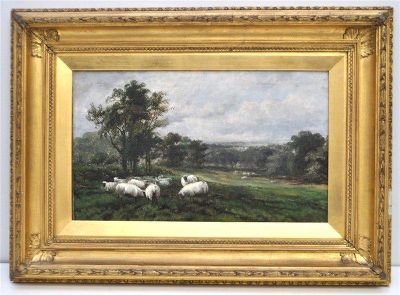 JOHN W. MORRIS (BRITISH, 1865-1924) OIL ON CANVAS