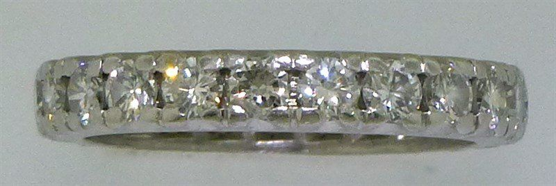 PLATINUM DIAMOND ETERNITY BAND- 1.15CTS/TW