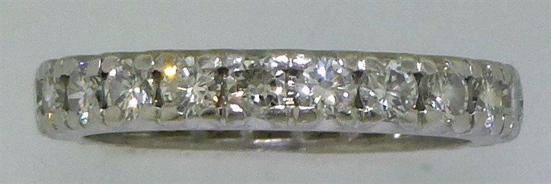 PLATINUM DIAMOND ETERNITY BAND- 1.15CTS/TW