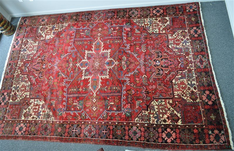 HAND KNOTTED PERSIAN HERIZ RUG 8x11.50 FT