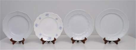 4 ANTIQUE 19th c WHITE IRONSTONE PLATES