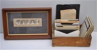 ROYAL BAILEY FARNUM RISD 64 ANTIQUE GLASS NEGATIVES -