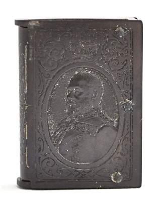 VULCANITE 1902 KING EDWARD VII MATCH SAFE VESTA CASE