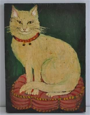 FOLK ART HAPPY CAT - G. PUGLIESE