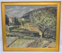 FRENCH OIL ON CANVAS PROVENCE DUCROCQ