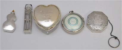 5 pc STERLING SILVER LADIES ACCOUTREMENTS