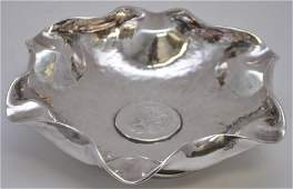 PERUVIAN STERLING SILVER BOWL W 1884 SILVER COIN