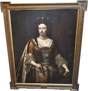 PERIOD 18TH CENTURY LARGE QUEEN ANNE PORTRAIT