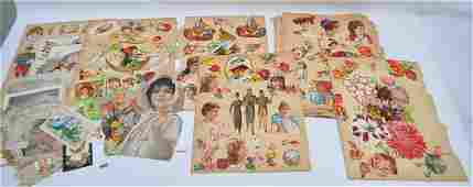 LARGE LOT VICTORIAN CARDS - HOLIDAY - TRADE - CALLING
