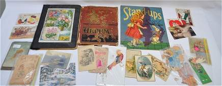 LARGE LOT VICTORIAN ALBUMS TRADE CARDS - CALLING CARDS