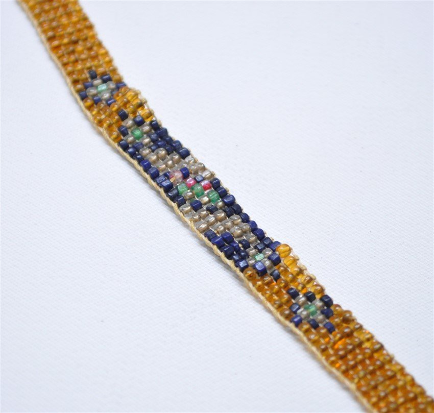 ART DECO 1920S MICRO BEADED FLAPPERS NECKLACE - 3