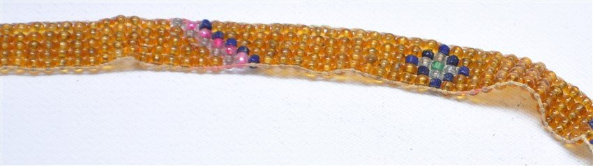 ART DECO 1920S MICRO BEADED FLAPPERS NECKLACE - 4