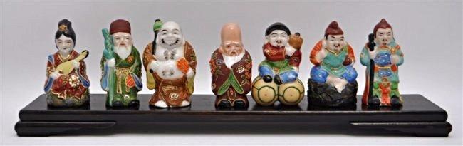 SET OF KUTANI 7 LUCKY GODS - SICHI FUKUJIN