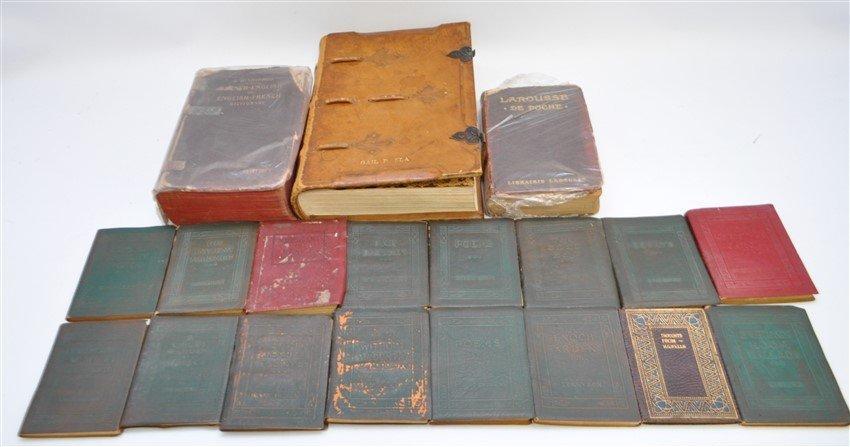 19 pc ANTIQUE COLLECTIBLE BOOKS