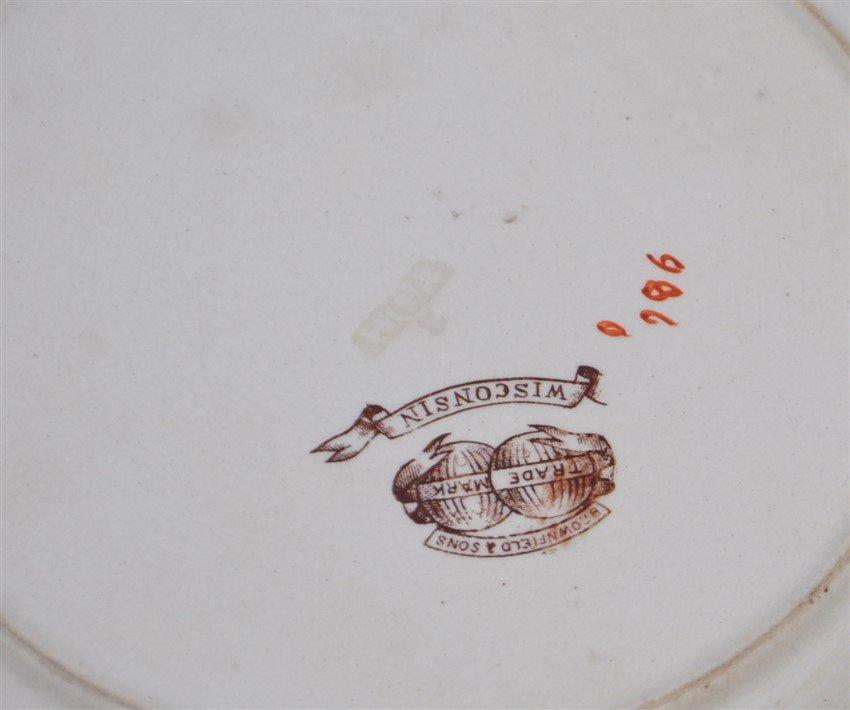 6 pc 19th c. ENGLISH PLATES BROWNFIELD -ADAMS - 9