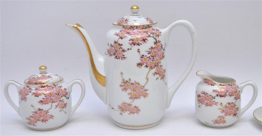 JAPANESE PORCELAIN CHERRY BLOSSOM TEA SET - 2