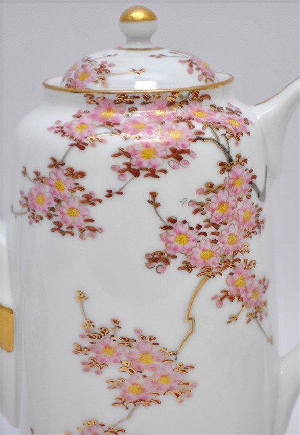 JAPANESE PORCELAIN CHERRY BLOSSOM TEA SET - 3