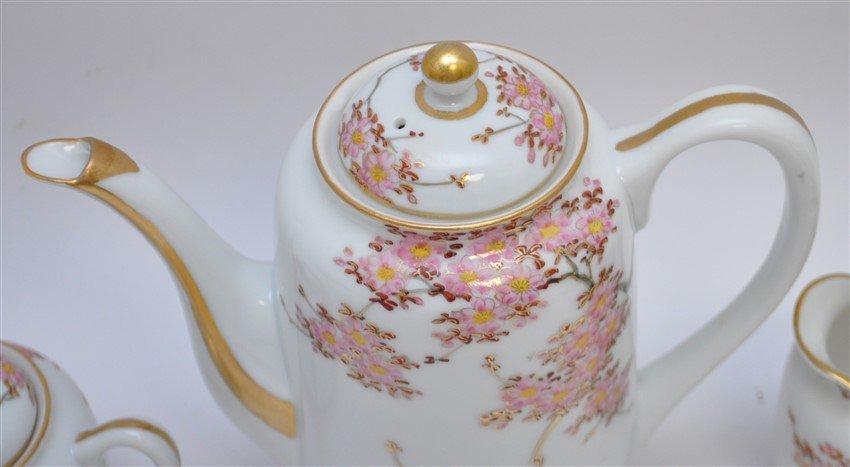 JAPANESE PORCELAIN CHERRY BLOSSOM TEA SET - 8