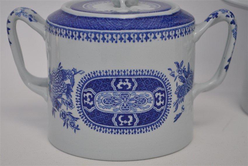 3 pc SPODE FITZHUGH BLUE COFFEE POT + - 2
