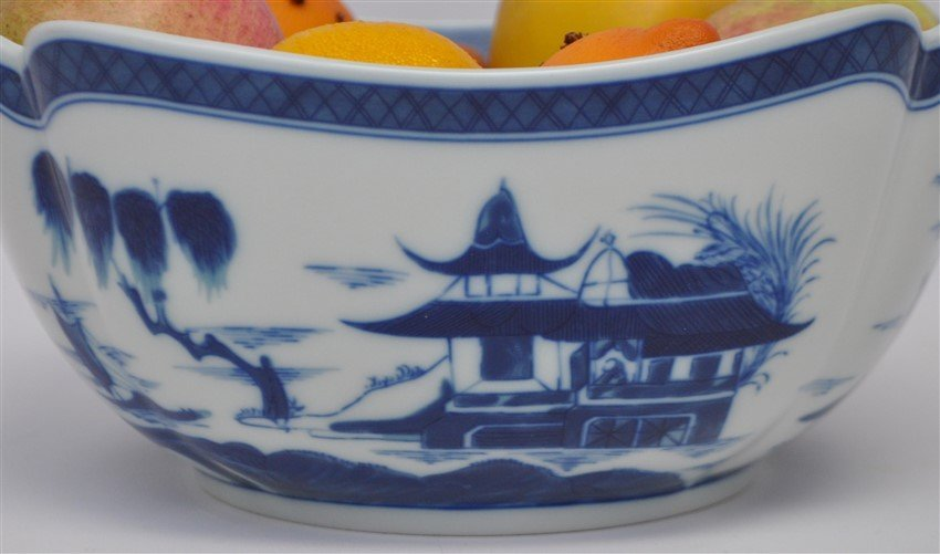 MOTTAHEDEH BLUE CANTON LARGE SQUARE BOWL - 4