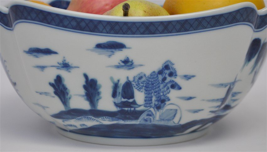 MOTTAHEDEH BLUE CANTON LARGE SQUARE BOWL - 5