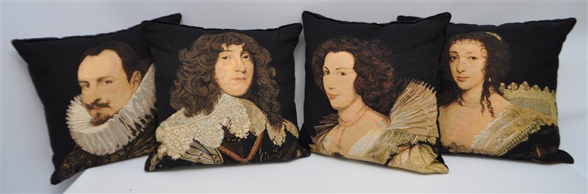 4 TAPESTRY F.S. HOME COLLECTIONS PILLOWS