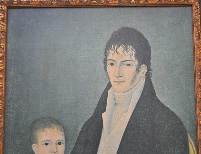 FRAMED FOLK ART FATHER &  SON PRINT - 2