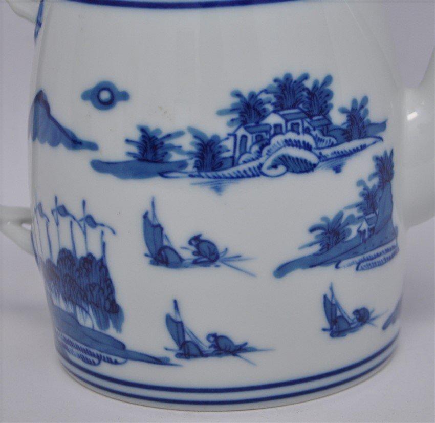 MOTTAHEDAH VISTA ALEGRE BLUE CANTON TEAPOT - 2