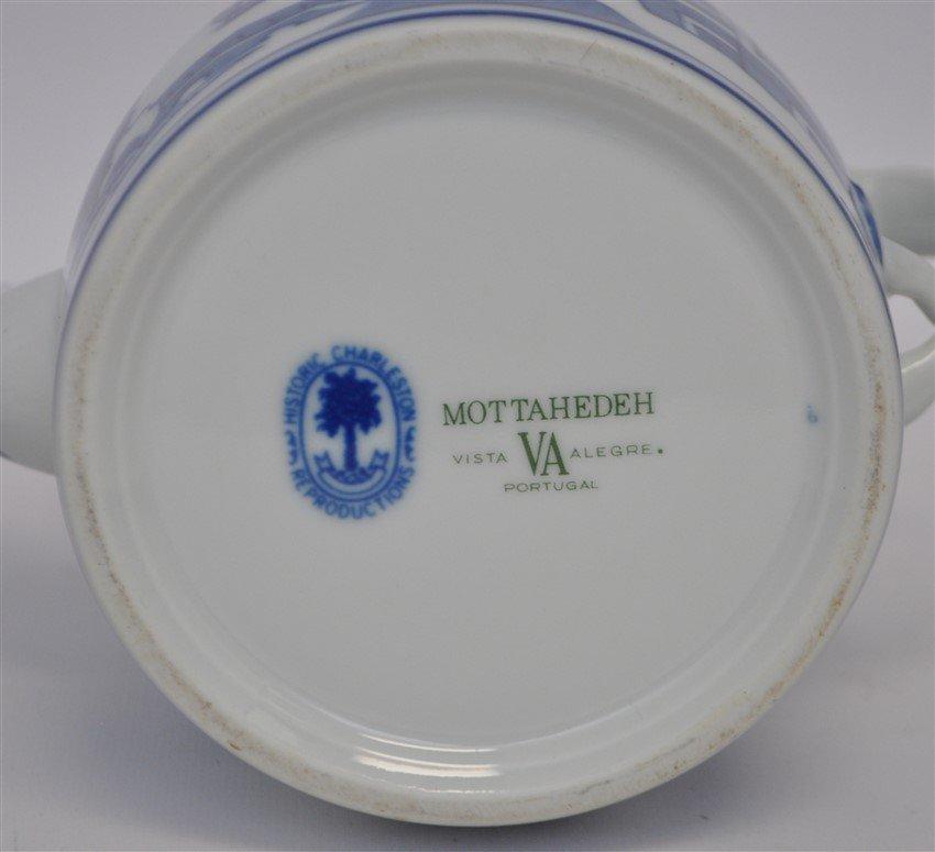 MOTTAHEDAH VISTA ALEGRE BLUE CANTON TEAPOT - 8