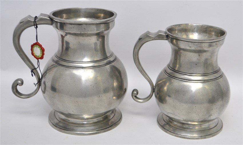 5 LES ETAINS DE PARIS PEWTER DRY MEASURES - 2