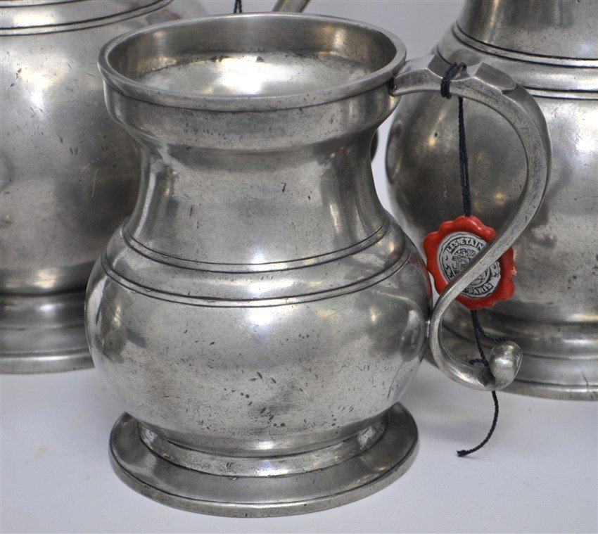 5 LES ETAINS DE PARIS PEWTER DRY MEASURES - 5