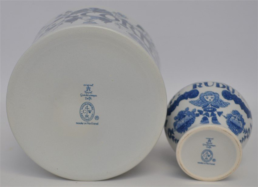 PAIR OF DELFT APOTHECARY JARS - 7
