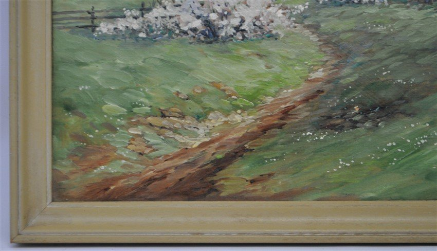 ALPINE VIEW PAINTING ON BOARD SIGNED - 5