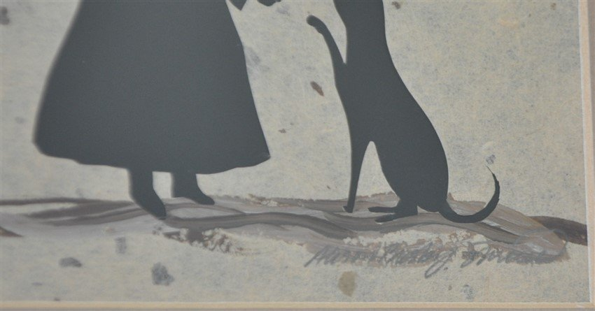 ORIGINAL ALISON SHRIVER GIRL & CAT SILHOUETTE - 4